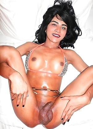 Hardbody Khmer Vina cums 2x and has her ass filled with a cowgirl creampie! Cambodian Ladyboy Vina has dark skin which looks even better when oiled up