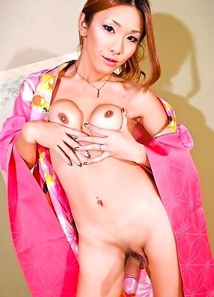 Misaki Shiratori is hot property! This newhalf mega babe is a celebrity show-dancer who enjoys mainstream success in Japan. Her delicious shecock was