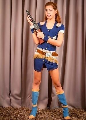 Thai Ladyboy Zara - She's the Sheriff