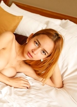 Sexy Thai femboy Yuki gets ass stretched by big white cock