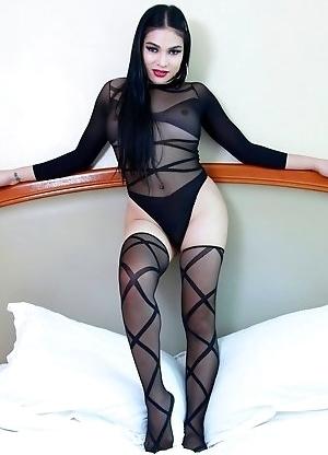 TS Filipina in Sexy Stockings