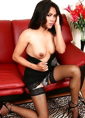 Hot Som spreading in stockings