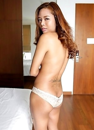 23yo shy Thai shemale Mond sucks and fucks white tourists cock