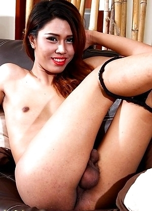 Milk strokes her rock hard shecock