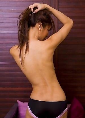 Paris fucks her Katoey ass with a cock shaped butt plug