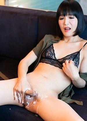 Yoko Cock Bukkake Sperm Masturbation