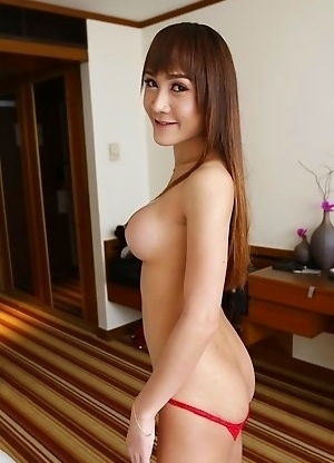 Big boobs Thai new half Mos shows her big tits and sucks white foreign cock