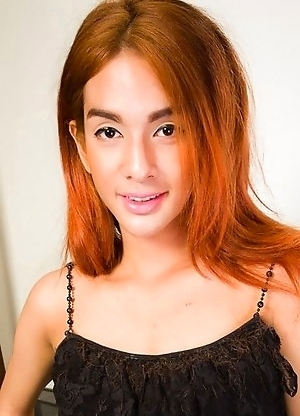 Toto is a sexy transgirl with a hot slim body, small breasts, a nice ass and a hard uncut cock!