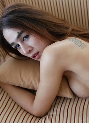 Horny Thai femboy Four experiences a big white cock
