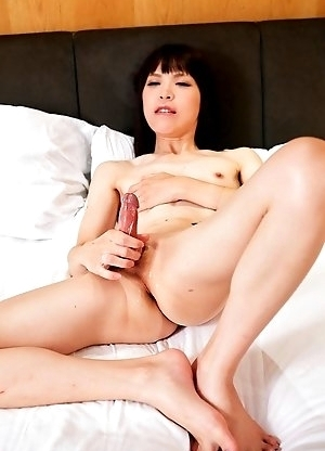 Kawai Yui is very excited and hard, she strokes till she cums.