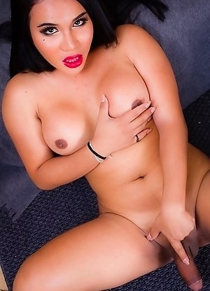 Sexy Jasmine has a smoking hot body with an amazing ass, big soft tits and a big rock hard cock!