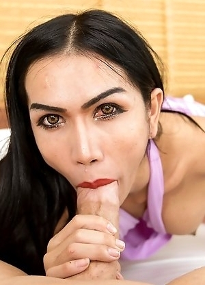 Sexy Thai femboy Bella bottom less bareback vixen