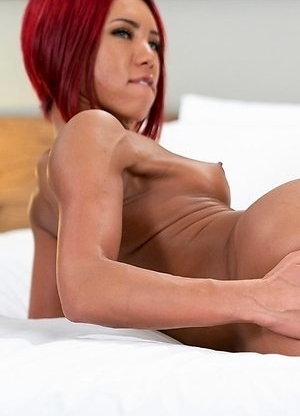 Miran is enjoying fingering her ass-pussy.
