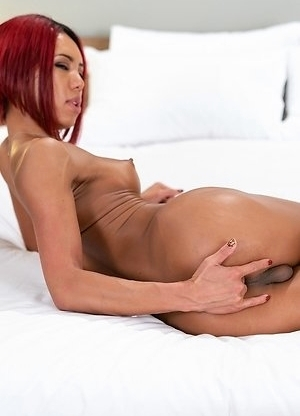 Miran is enjoying fingering her ass-pussy.