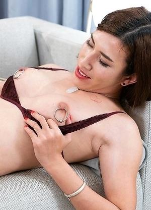 Allison blowjob, close up, fetish, foot fetish, male slave