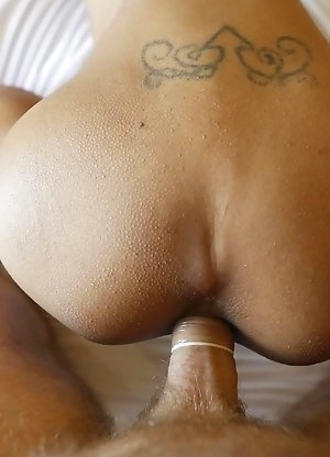 19yo Thai shemale Fern gets a fulkl facial from white cock