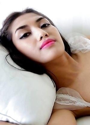 Beautiful feminine Thai Ladyboy Wine enjoys hard ass packing