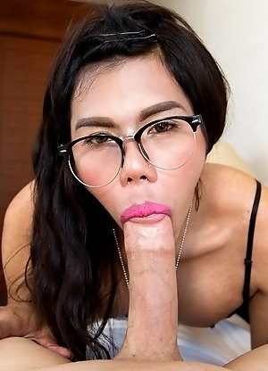 Winnie takes a HUGE dick all the way to the base in this original LadyboyGold bareback episode. Winnie worships the big POV cock, taking it ass-to-mou