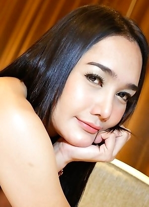 25 year old hot Thai ladyboy Lily sucks and gets fucked by white cock