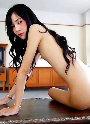 Really skinny ladyboy Bonus sucks dick like a champion and earns facial