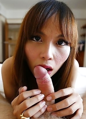 23yo busty Thai newhalf Ayumi sucked off white cock and gets fucked in her tight ass