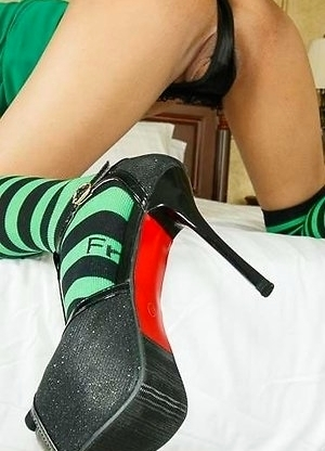 Many No Condom Green Blouse and Socks