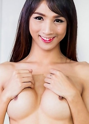 Cartoon loves playing with her full breasts til her big cock gets totally hard.