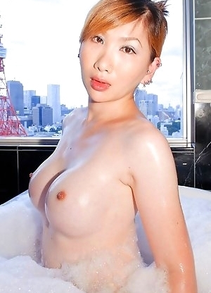 Sayaka has a very sexy body, lovely pale skin and great boobs!